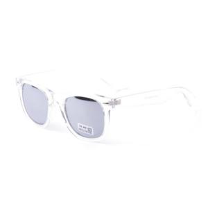Transparant Zilver Wayfarer Brillenbaas
