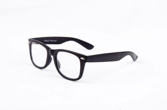 Wayfarer nerd zwart Brillenbaas