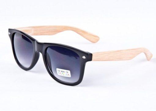 Bamboe bril wayfarer zwart Brillenbaas