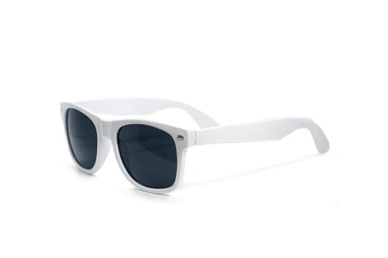 Witte Wayfarer Brillenbaas