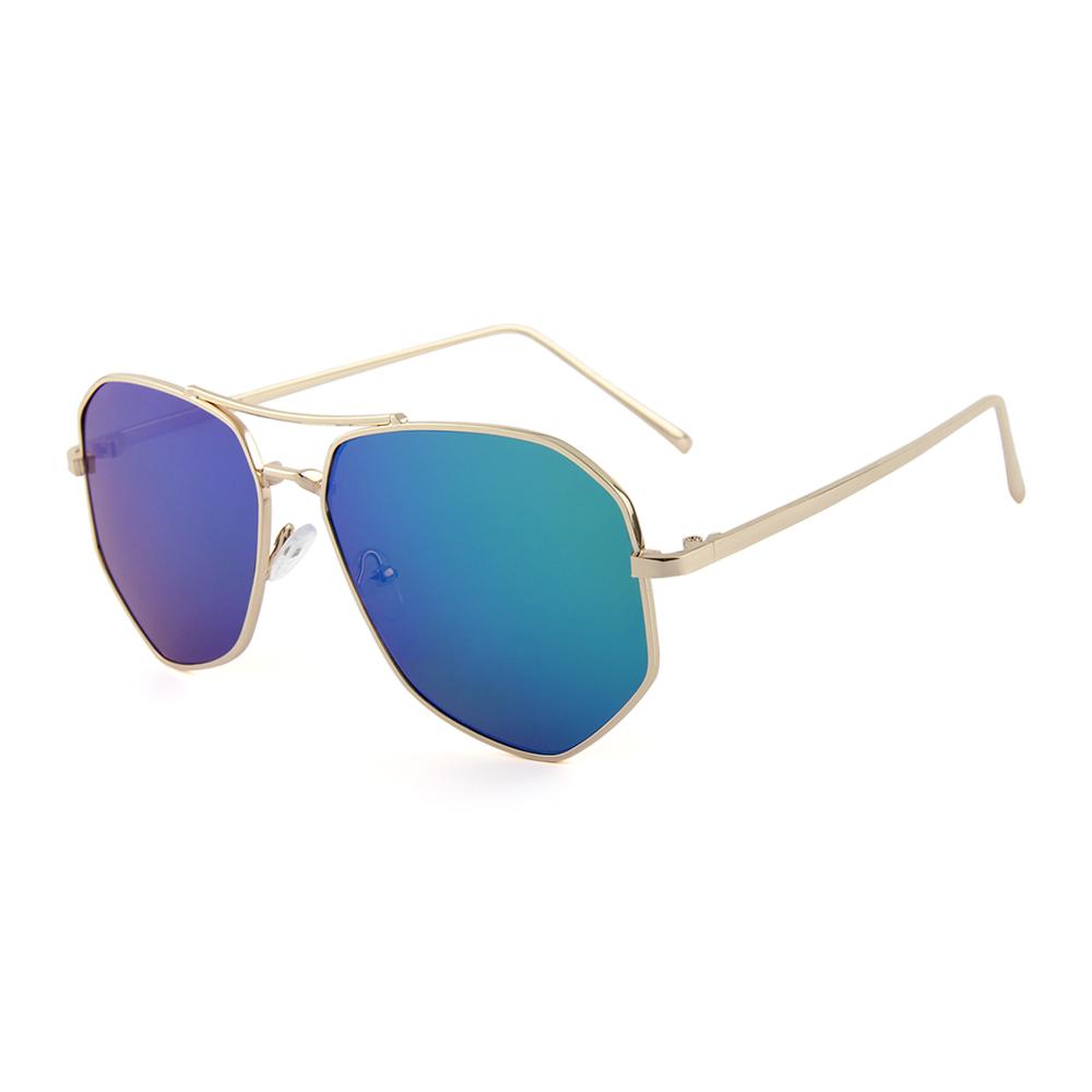 """2017 Pilotenbril met blauw-groene spiegelglazen """"Extravaganza1.0"""""""
