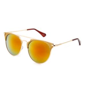 """Retro gouden zonnebril goud-rode spiegelglazen """"Goldbar"""""""