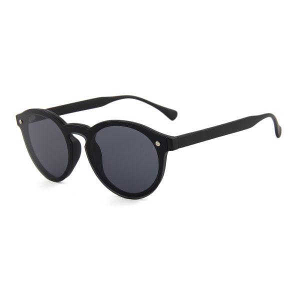 """Mat zwarte zonnebril met ronde glazen """"Matte Hari"""""""