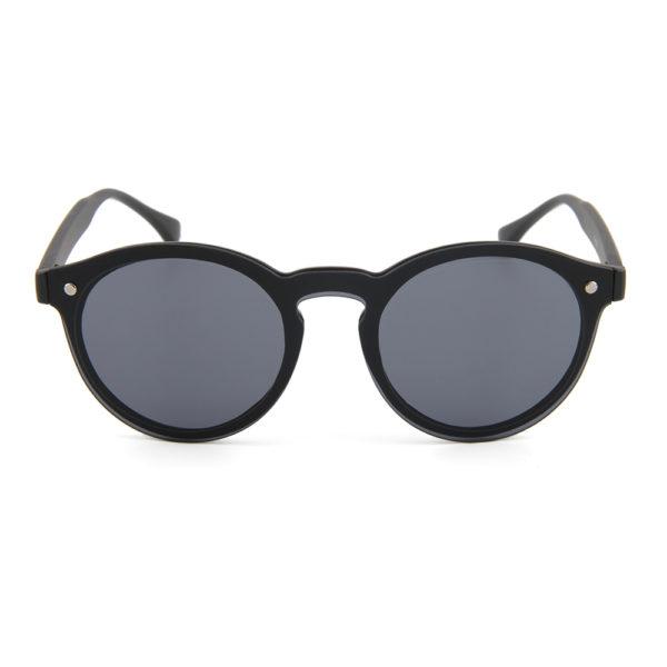 "Mat zwarte zonnebril met ronde glazen ""Matte Hari""_v"