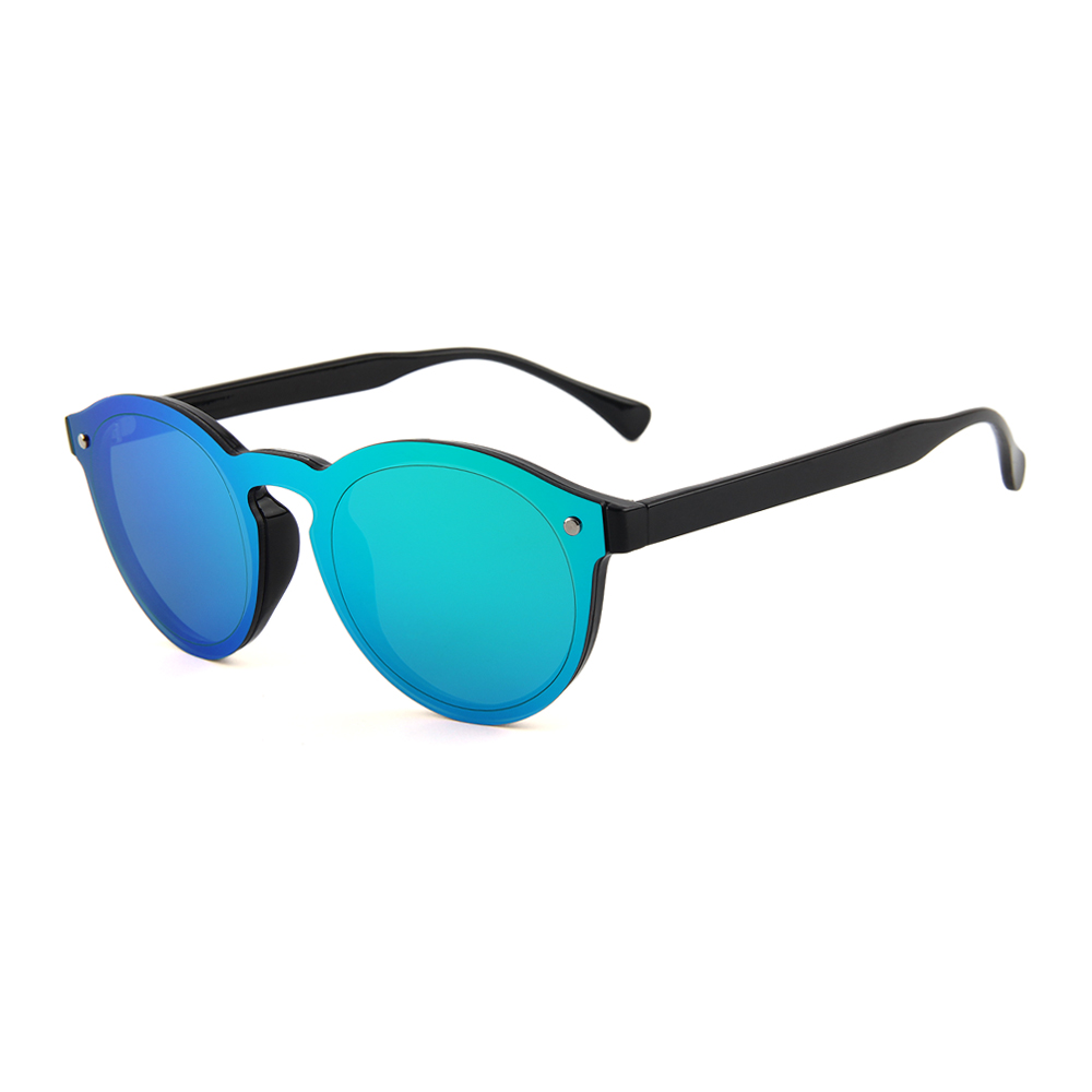 "Blauw-groene spiegelglas zonnebril ""Vert de Mer"""