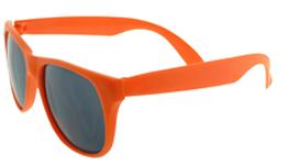 oranje zonnebril bedrukken Brillenbaas