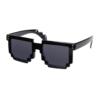 """Festival pixel zwarte zonnebril met zwarte glazen """"Pixblack"""""""