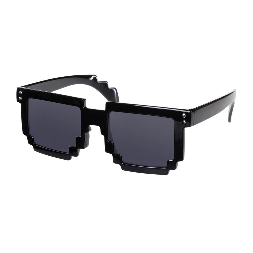 00d94fc1dd19cf Festival pixel zwarte zonnebril met zwarte glazen