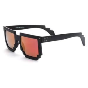 "Festival pixel zwarte zonnebril met goud-paarse spiegelglazen ""Pixfest"""