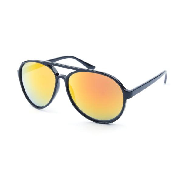 """Pilotenbril met goud-rode spiegelglazen """"Aviator Gringo"""" Brillenbaas"""