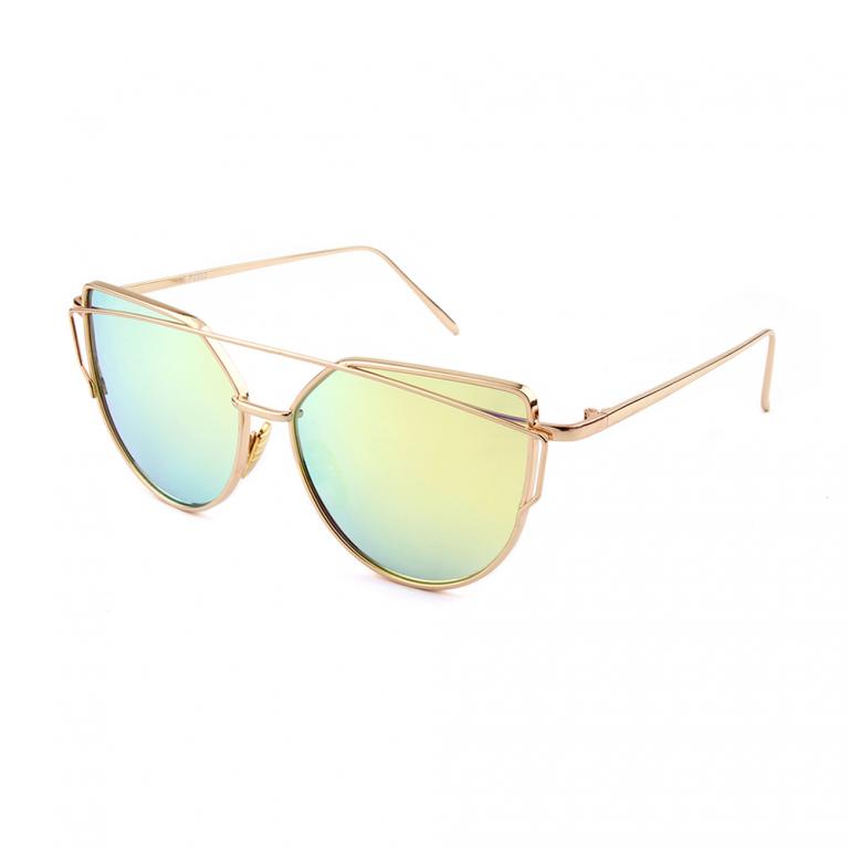 Pilotenbril met goud-gele polarized spiegelglazen Primadonna 2202M-3S17 Brillenbaas