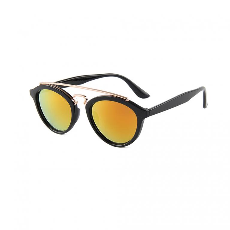 "Zonnebril met goud-rode spiegelglazen ""Il Gernato Sole"" Brillenbaas"